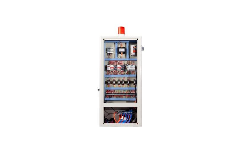 Hệ thống tụ điện của máy cắt nhôm 2 đầu mâm xoay F500 CNC
