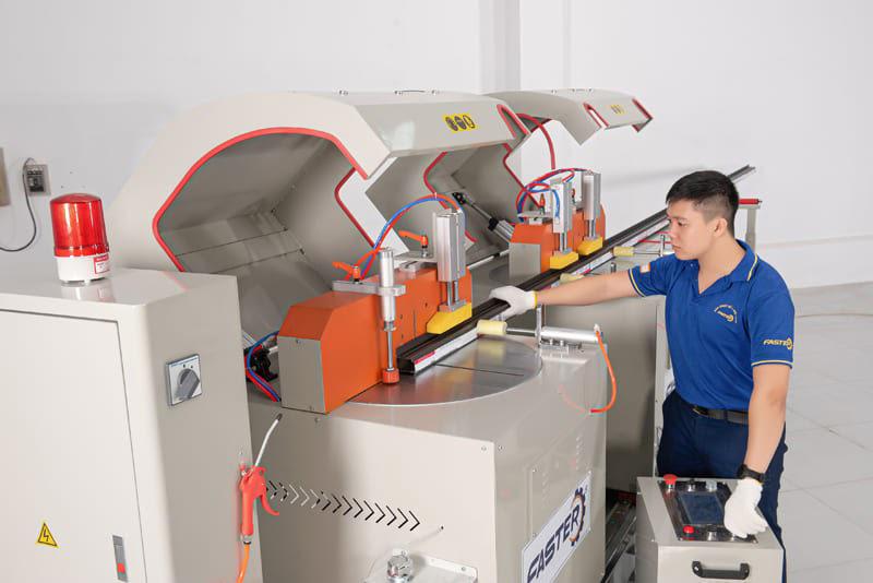 Hướng dẫn sử dụng Máy cắt nhôm 2 đầu mâm xoay F500 CNC